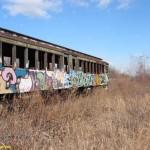 Abandoned 1925 vintage Staten Island Rapid Transit car 353 – 2003.